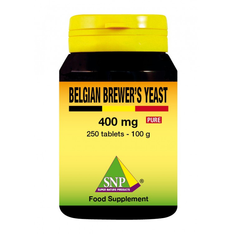 Belgian Brewer's Yeast Supplements - 400 mg - Pure (250 Tab)