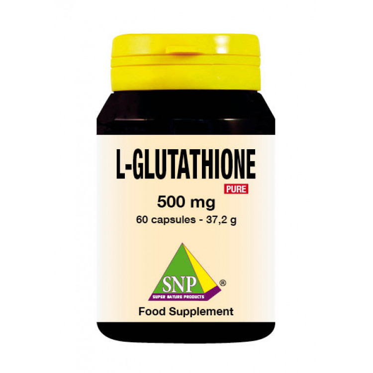 Glutathione Supplements - 500 mg - Pure (60 Caps)