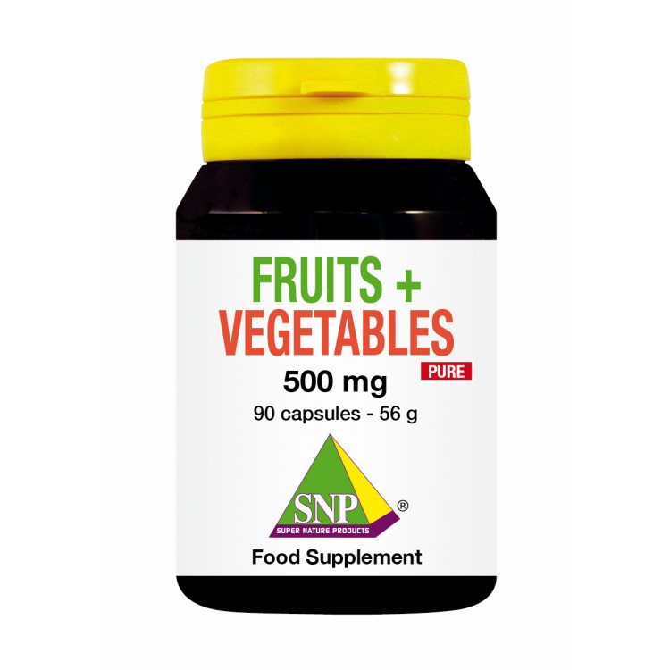 Fruits and Vegetables Supplements - 500 mg - Pure (90 Caps)