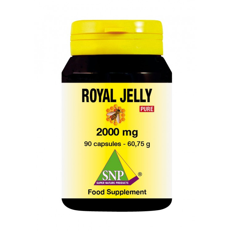 Royal Jelly Supplements - 2000 mg - Pure (90 Caps)