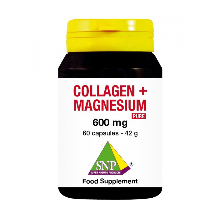 Collagen + Magnesium Supplements - 600 mg - Pure (60 Caps)