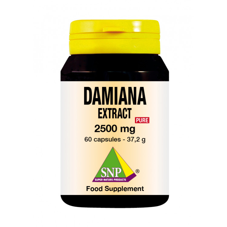 Damiana Extract Supplements - 2500 mg - Pure (60 Caps)