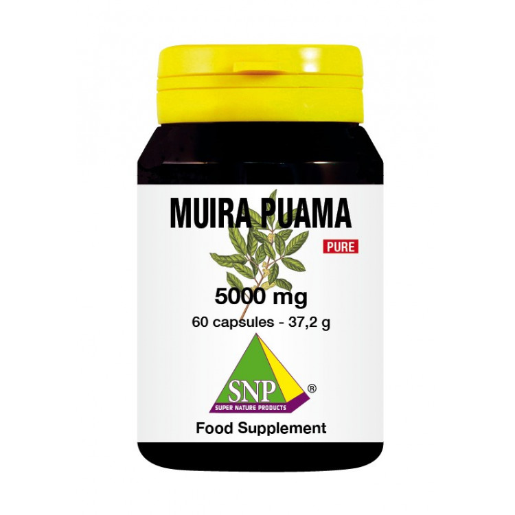 Muira Puama Supplements - 5000 mg - Pure (60 Caps)
