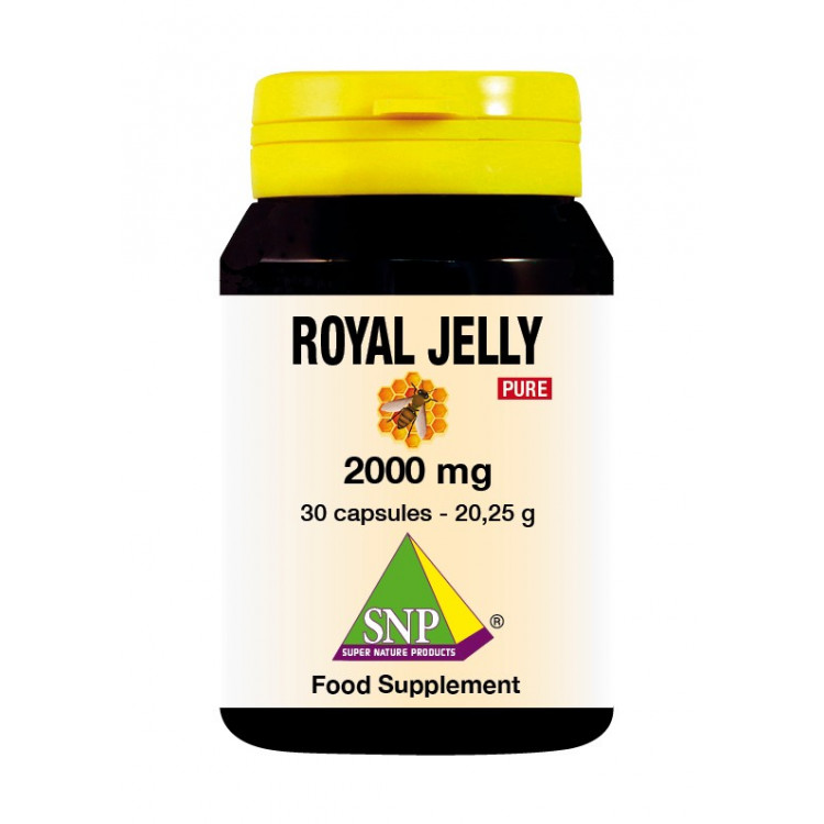 Royal Jelly Supplements - 2000 mg - Pure (30 Caps)