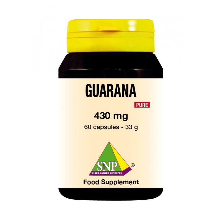 Guarana Supplements - 430 mg - Pure (60 Caps)