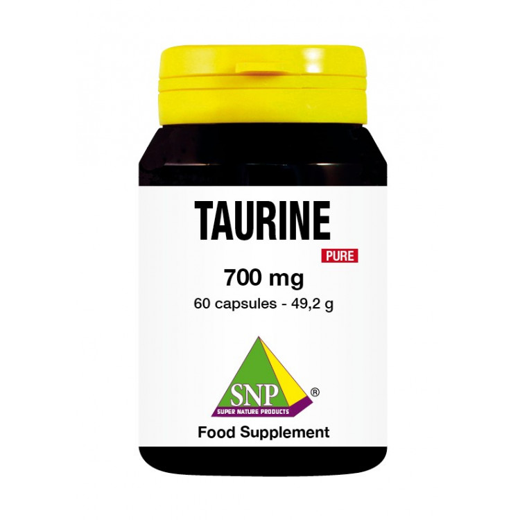 Taurine Supplements - 700 mg - Pure (60 Caps)