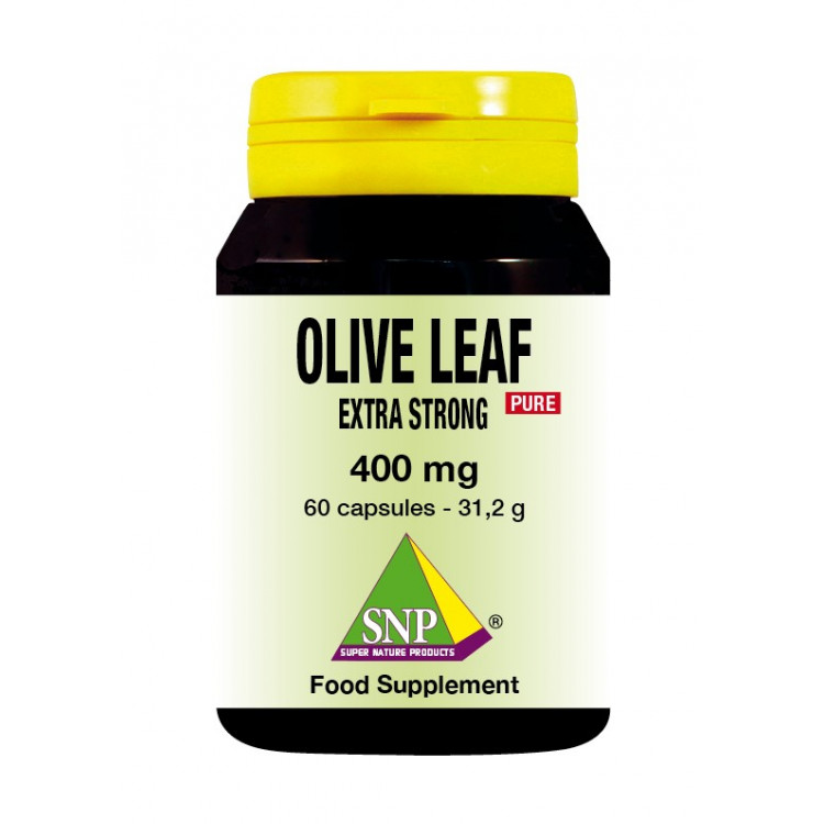 Olive Leaf Extra Strong Supplements - 400 mg - Pure (60 Caps)