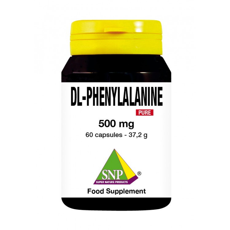 DL-Phenylalanine Supplements - 500 mg - Pure (60 Caps)