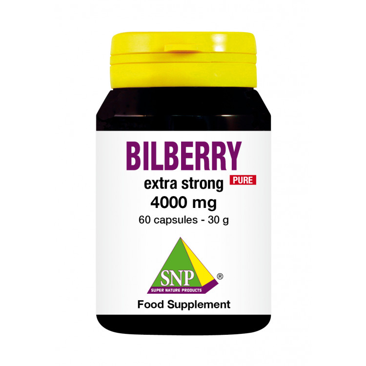 Bilberry Extra Strong Supplements - 4000 mg - Pure (60 Caps)