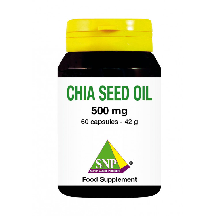 Chia Seed Oil Supplements - 500 mg (60 Caps)