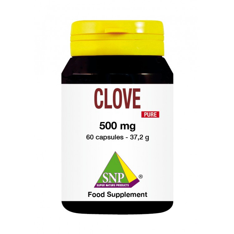 Clove Supplements - 500 mg - Pure (60 Caps)