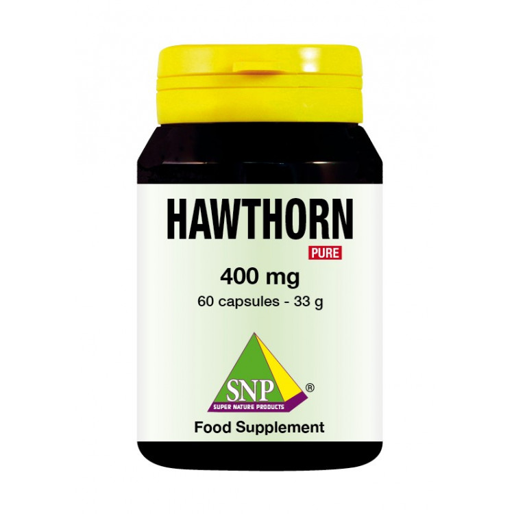 Hawthorn Supplements - 400 mg - Pure (60 Caps)