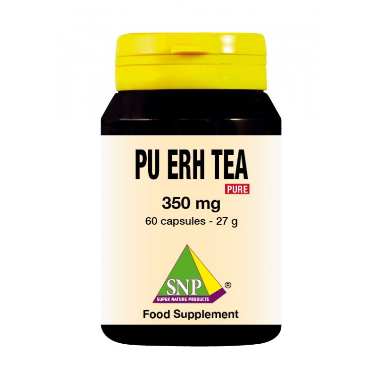 Pu Erh Tea Supplements - 350 mg - Pure (60 Caps)