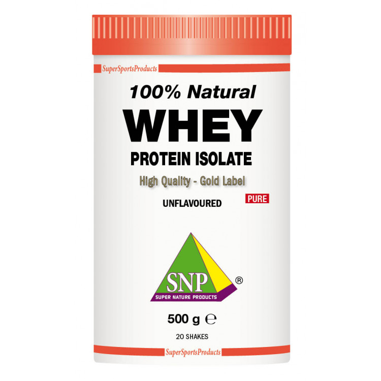 Whey Protein Isolate Supplements - 100 % Natural - Pure (500 g)